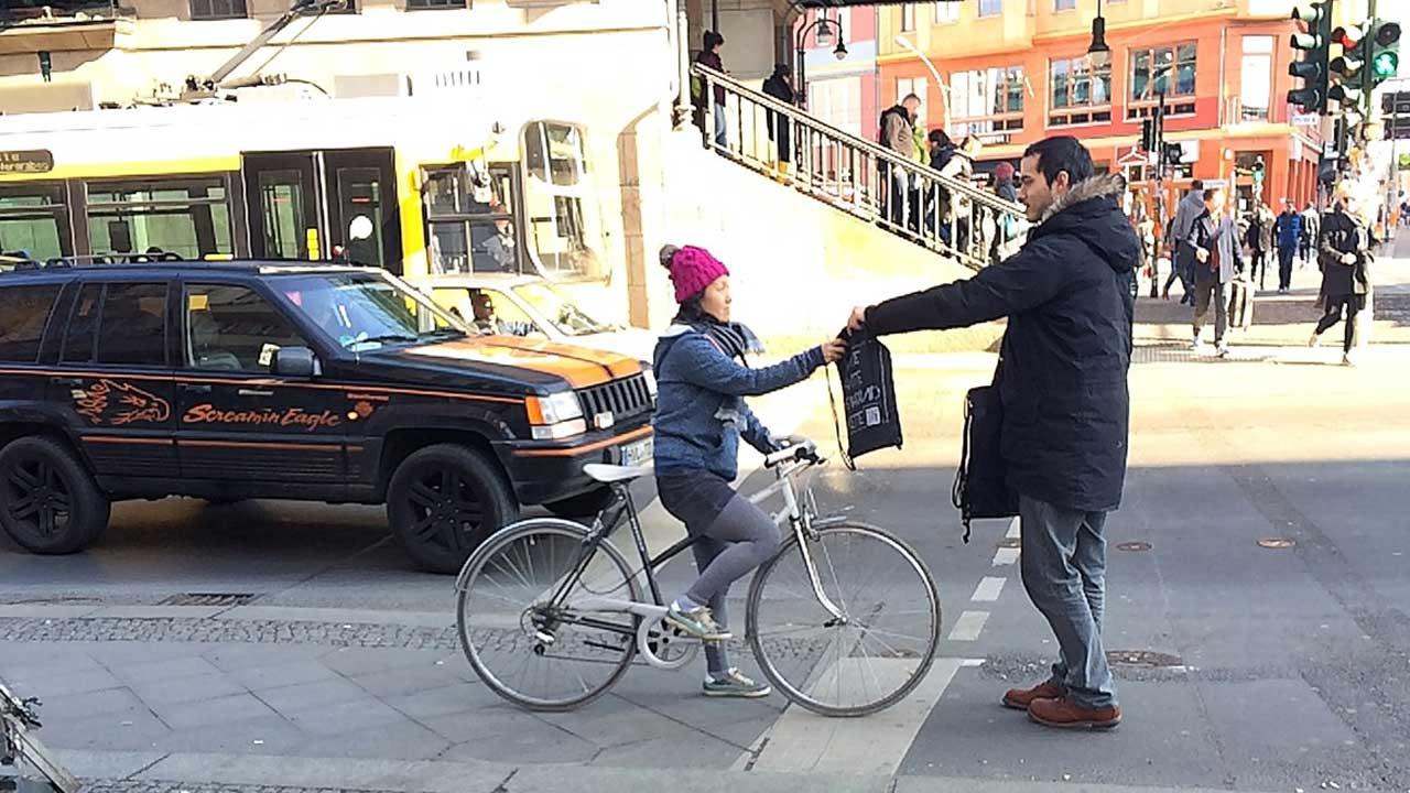 Hätte hätte Fahrradkette Street Promotion