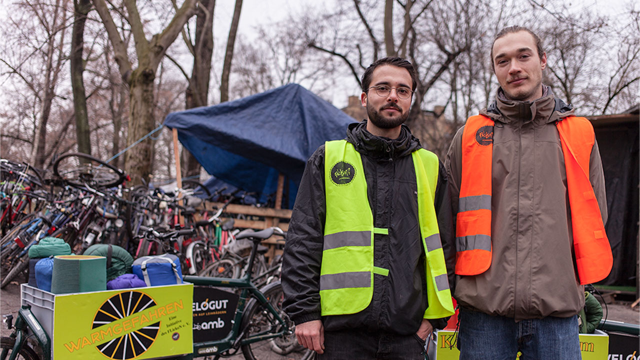 Kältehilfe Berlin per Lastenrad - Warmgefahren