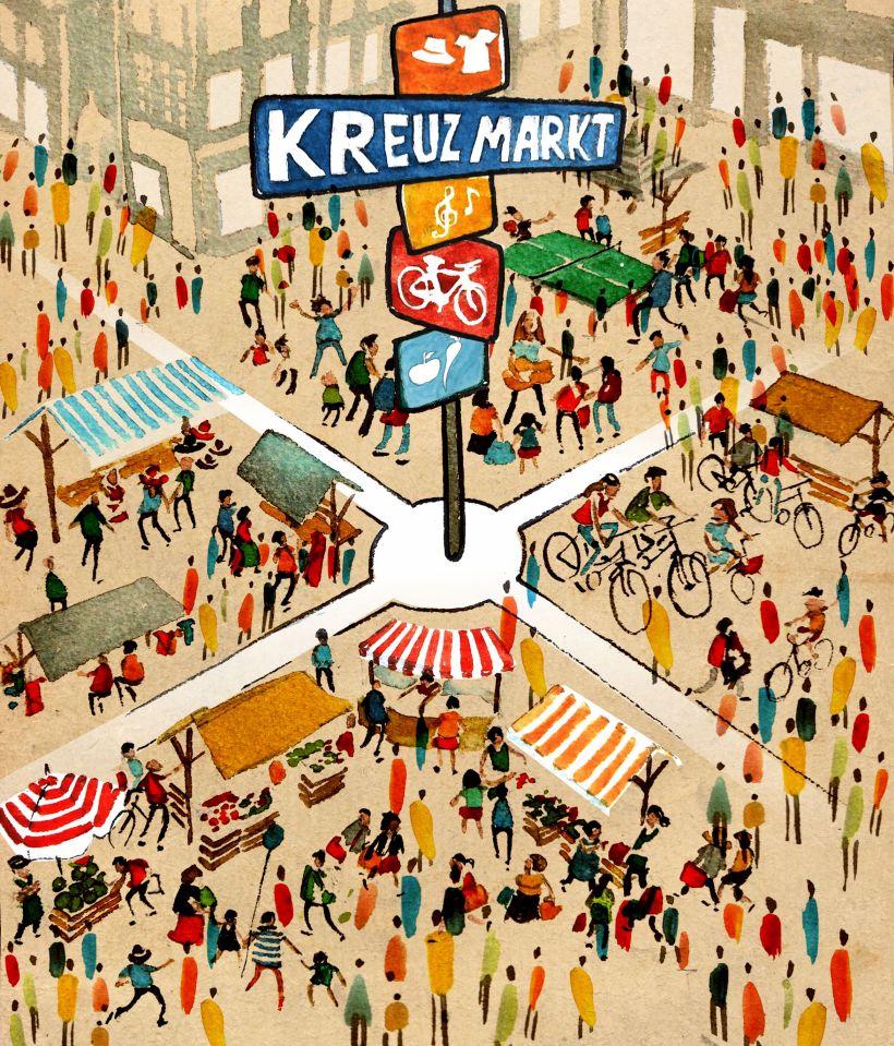 Flyer front BFM in Kreuzberg Kreuzmarkt
